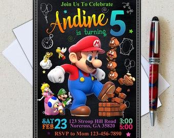 Super Mario Invitation/Super Mario Birthday Party/Mario Bros Invitation/Super Mario Invite/Super Mario Printable/Super Mario Bros Invitation