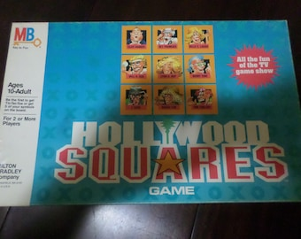 Vintage 1986 Milton Bradley Hollywood Squares Board Game No 4712 100% Complete TC