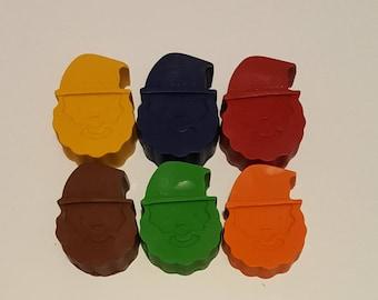 Set Of 10 Santa Crayons, Stocking Stuffers