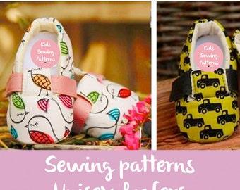 Kids sewing patterns PDF / newborn shoes baby accessory / cool baby shoes/ newborn shoes with strap  / SLIPPER SHOE / Shoes size 0m-12m