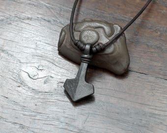 Small Iron Mjolnir Pendant