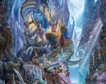 Dragonforge, signed giclee print