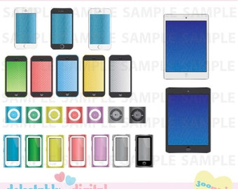 Clipart- Iphones, Ipods, and Ipads- technology- Personal and Commercial Use