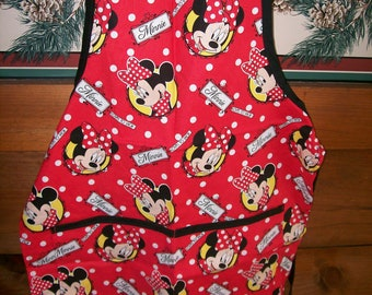 Minnie Mouse Childs Full Apron