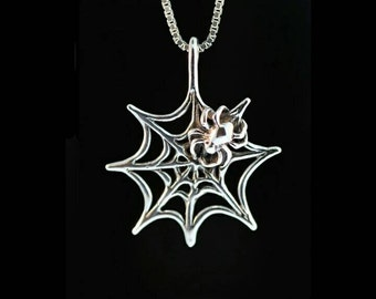 Halloween  SPIDERWEB Necklace
