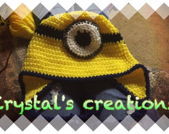 Minion hat/comfy hat/cartoon character