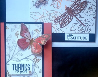 2 card set -With Gratitude & Thanks