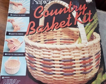 NOS, Vintage, Napier Country Basket. Partial Kit, 1986 with instructions