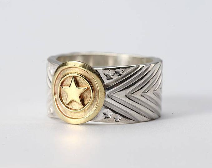 Silver Engraved Ring | Silver Band Ring | Geometric Band Ring | Lucky Star Ring | Silver Chevron Ring | Mens Silver Band | Gift for Him