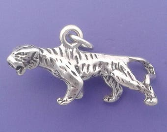 TIGER Charm .925 Sterling Silver Pendant - sc258