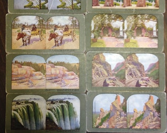 20 Antique Stereographs by T. W. Ingersoll from late 1800's to early 1900's
