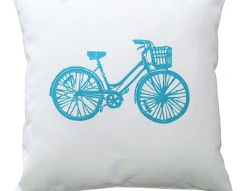 14x14 Blue Bike pillow