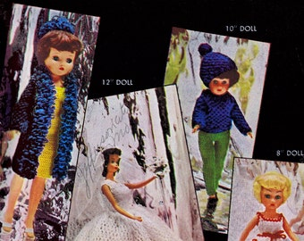 Vintage Patterns Knitted Crochet Doll Clothes Costume Fashion Figure Dolls Sizes 19 | 12 | 10 | 8 Inch PDF eBook Instant Download