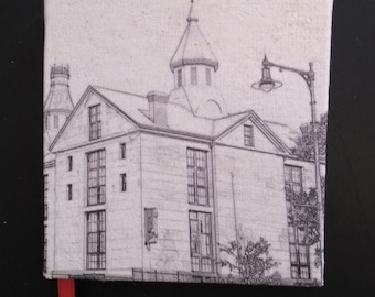 Salem Jail Handmade Sketchbook