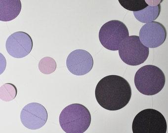 Grape Vine Garland, purple garland, purple wedding, purple bunting, violet garland, purple nursery, ombre purple