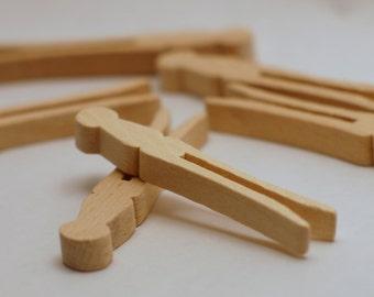 Penley Flat Mini Hardwood Clothespins 2.5'' 50ct