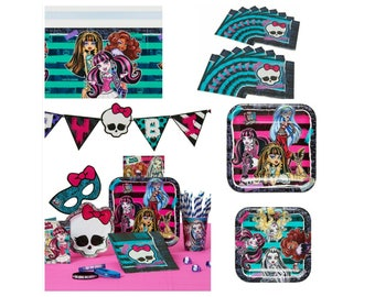 Monster High Birthday Party Paper Plates Napkins Tablecover ~ Party Supplies