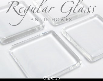 1 in clear square glass tiles. Regular Clear Glass Tiles for Pendants and Magnets. 25 Pack-UB. Annie Howes