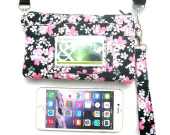IPhone 6 plus wristlet.  IPhone 6 plus purse. Wristlet for iPhone 6 plus. ID holder.  Oyster card holder. 6 plus purse