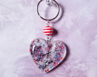 Live, Laugh, Love Resin Keychain