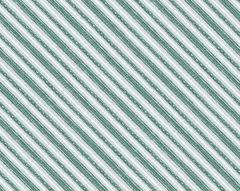 Friendly Gathering Teal Diagonal Stripe 96424-944 from Wilmington by the yard