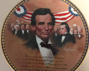 "Abraham Lincoln Collectible Plate ""The Lincoln-Douglas Debate""  No. 998B"
