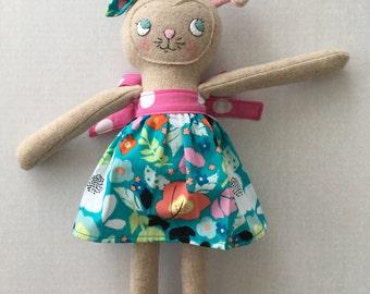 "PumpernickelPlum Bunny Rabbit Doll ""Marshmallow"" - Girl"