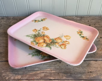 Antique Hand Painted China Dresser Tray