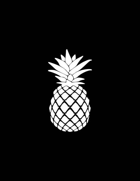 Pineapple Decal Vinyl Sticker Pineapple Car Decal Laptop Phone