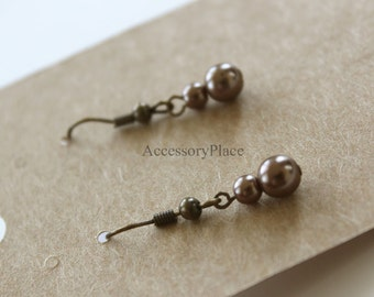 100 pcs of Blank Earrings Card in Brown Kraft Paper for Accessories Jewelry