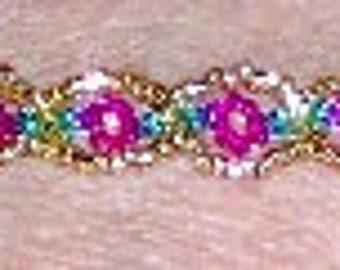 Amber's Flowers -  Beaded Bracelet Tutorial