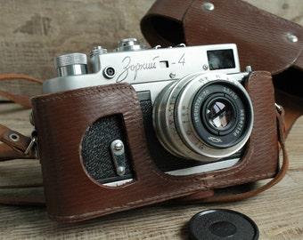 "rare camera / collectible camera / Old Vintage Soviet  Camera "" Zorki - 4 ""  with objective "" Industar - 50 "" / retro photo camera"