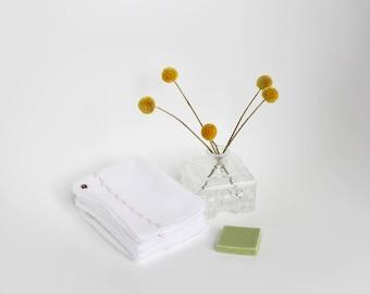 7 lingettes coton démaquillants blanches/Lingettes démaquillantes lavables/Carré coton lavable/Cadeau fête des mères/lingettes bébé