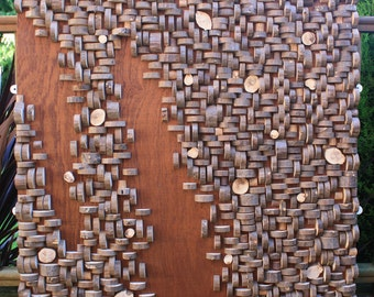 Coppiced Woodland Wall Panel - hand built wooden art