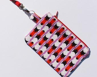 SWAN STRIPE coin purse
