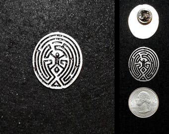 Westworld Maze Lapel Pin or Magnet