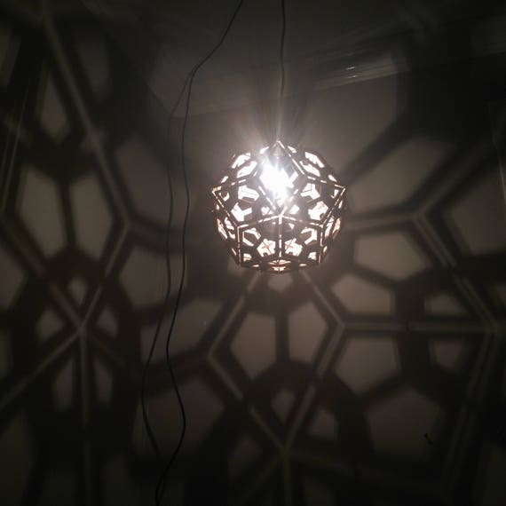 Rhombic triacontahedron lamp hanging ceiling pendant light