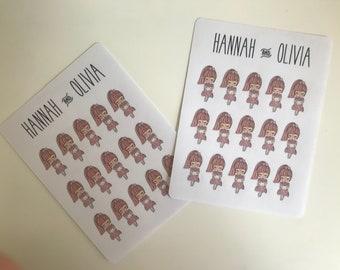 Dollz wedding bouquet / Couple - Matte Stickers / Planner Stickers