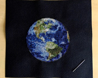 Earth Cross Stitch Pattern Instant Download PDF
