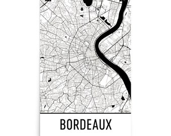 Bordeaux Map, Bordeaux Art, Bordeaux Print, Bordeaux France Poster, Bordeaux Wall Art, Map of Bordeaux, Bordeaux Gift, Bordeaux Decor, Map