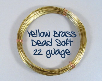 22ga 100ft DS Yellow Brass Wire