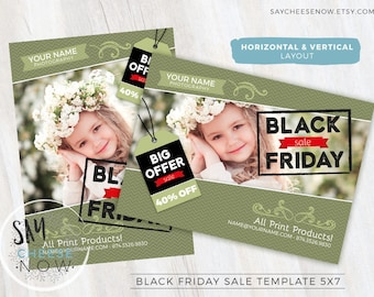 Black Friday Marketing Template for Photographers - Photography Marketing Newsletter Templates - Photoshop Templates for Photographers