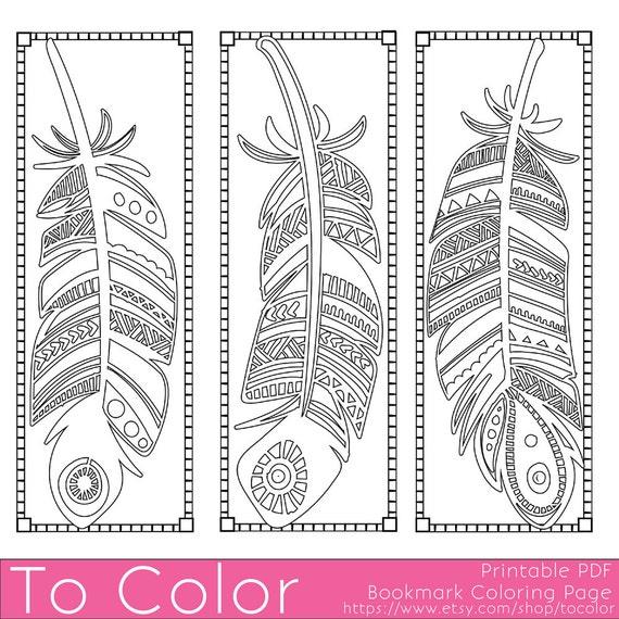 Piume stampabili da colorare pagina segnalibri per adulti pdf for Stampabili da colorare
