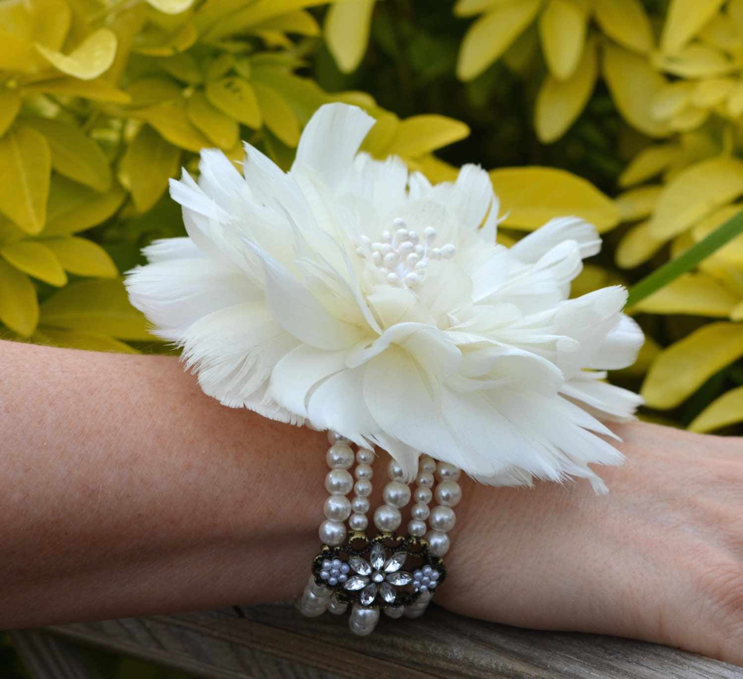 pin via etsy bracelet girl wedding flower flowergirl jewelry my