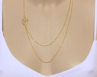 Moroccan Layering Necklace-Ornament Necklace Double Strand