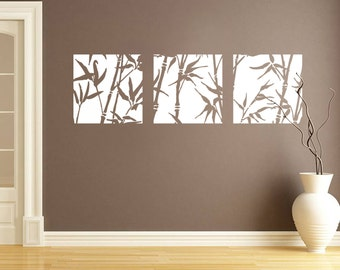 Bamboo Canvas Style wall sticker - Contemporary - Vinyl Decal