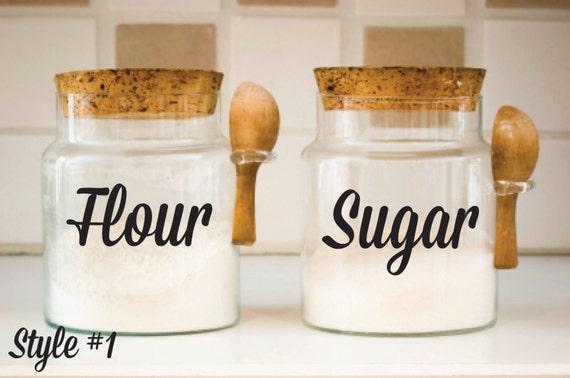 Kueche Kanister Pic : Küche kanister decals mehl zucker