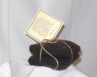 Chocolate Brown Cashmere Wool Hand Warmers, no. 150