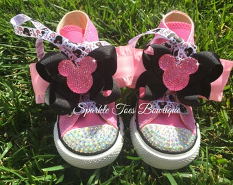 Minnie Mouse Inspired Shoes - Minnie Mouse Birthday - PRINCESS MINNIE - Minnie  Party - Crystals