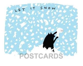 cat christmas postcards (4), funny cat postcards, funny christmas card, holiday card, holiday card, cat toilet paper card, black cat card